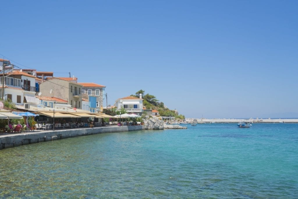 Kokkari in Samos, Greece in Summer